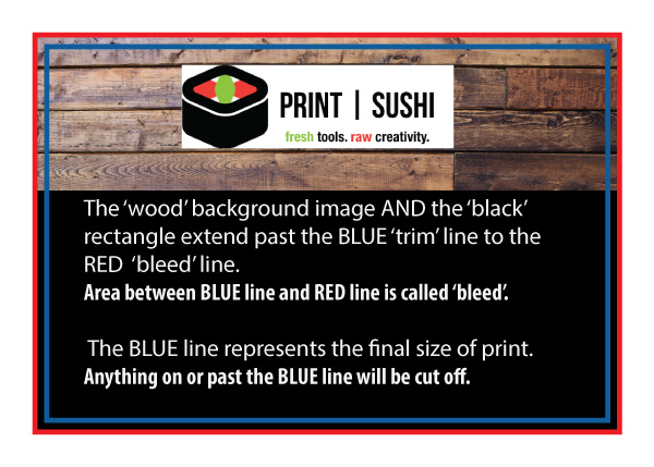 How to setup bleed for print