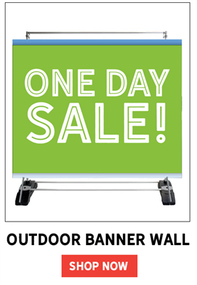 Single-Sided Outdoor Banner Wall