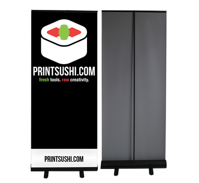 Economy Retractable Pop Up Banner (BLACK BASE)