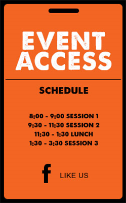 Plastic Event Access Badges