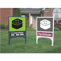 Large Lawn Sign Stand