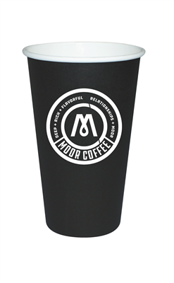16 oz Black Hot Cups