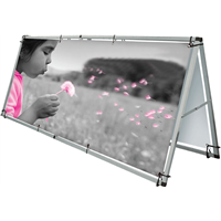 Outdoor Banner Display Frame - 8 ft - FRAME ONLY