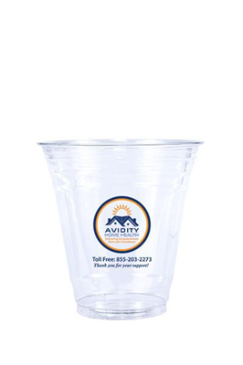 12 oz Printed Clear Plastic PET Cup