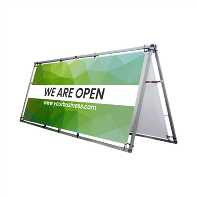Social Distancing 8' Outdoor Banner Frame