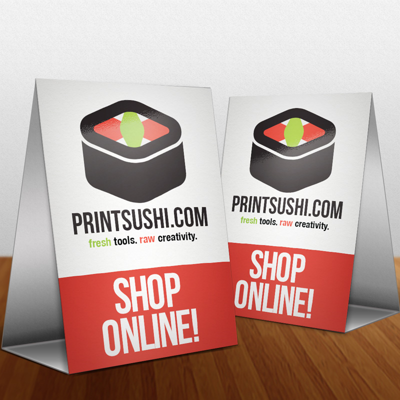 PrintSushi Card Printing Flag Banners Vinyl Banners And - Large table tent cards