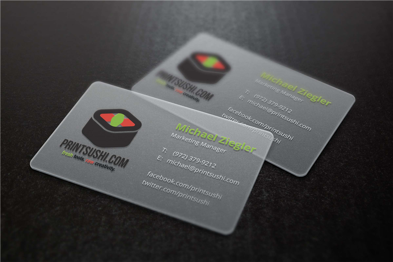 Plastic business card printing for Business card plastic