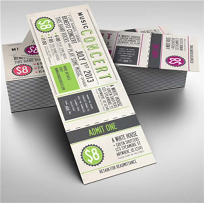 Event Tickets  How To Design A Ticket For An Event
