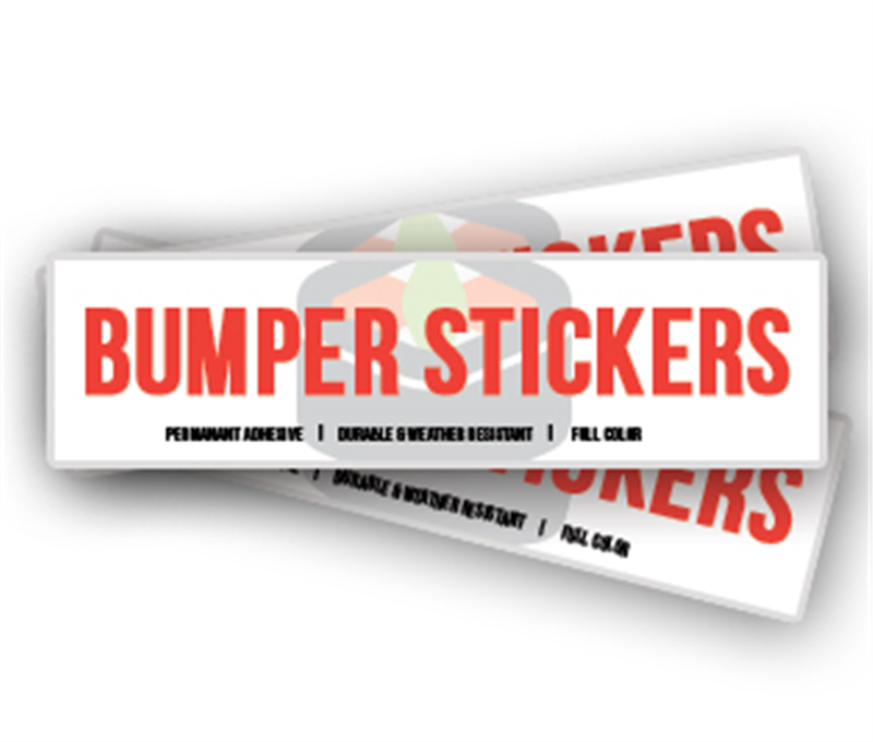 Bumper stickers short run