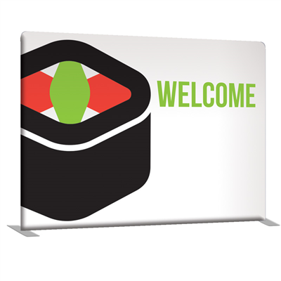 8' Straight Double-Sided Indoor Banner Display
