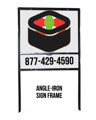 Angle Iron Metal Lawn Sign