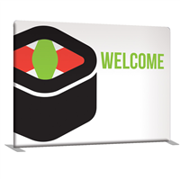 8' Straight Single-Sided Indoor Banner Display