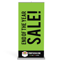 PREMIUM 24 Inch Retractable Banner Stands (SILVER)