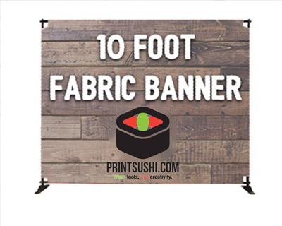 10' Slider Fabric Banner Stand
