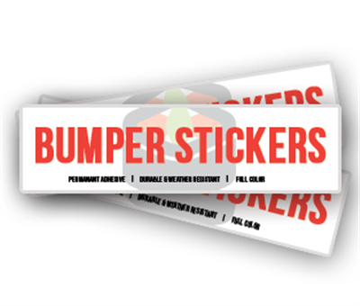 Bumper Stickers (Short Run)