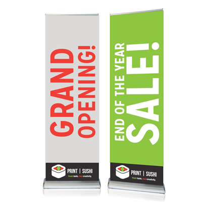 "24"" Double-Sided Retractable Banner Stands"
