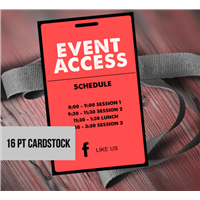 Card Stock Event Access Badges
