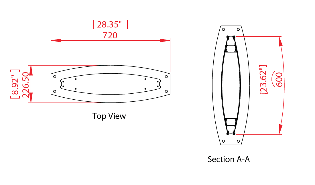 Aluminum Pylon Hardware Diagram